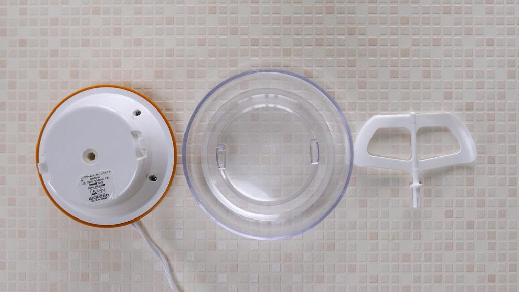 貝印『アイスクリームメーカー リラックマ DN0214』は、パーツ数が少ないので、後片付けも簡単!