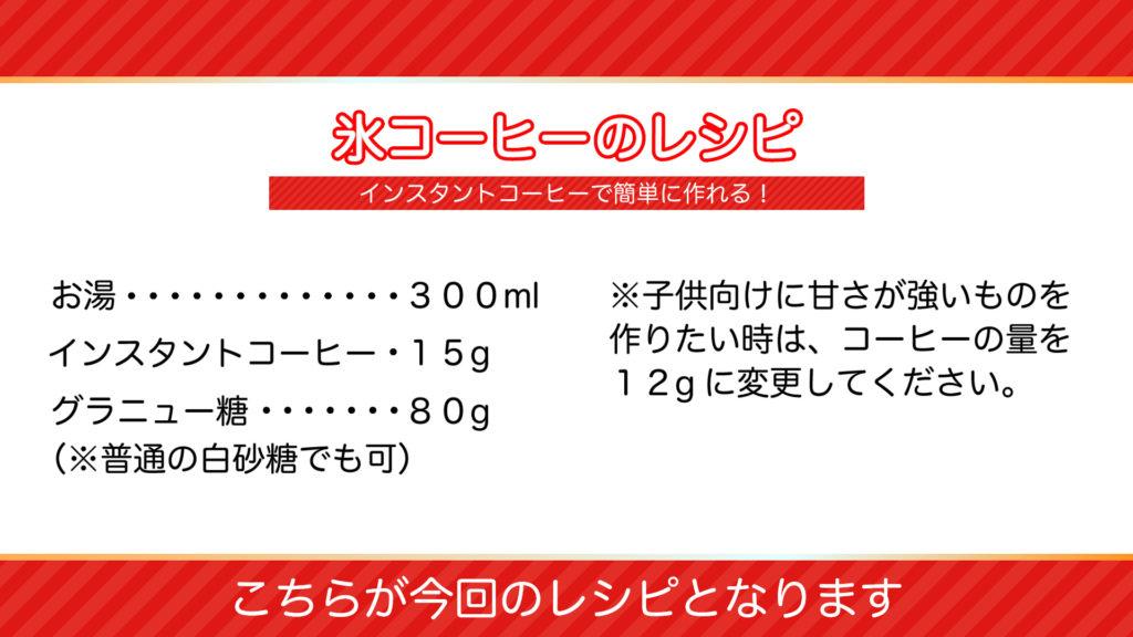 氷コーヒーのオススメレシピの分量紹介